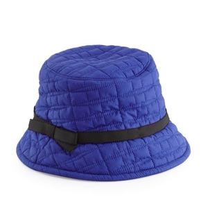KATE SPADE~logo quilted~BUCKET HAT~Blue